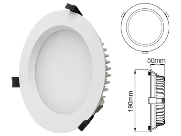 Ip44 20w led downlight samsung kiwiled - Downlight led 20w ...